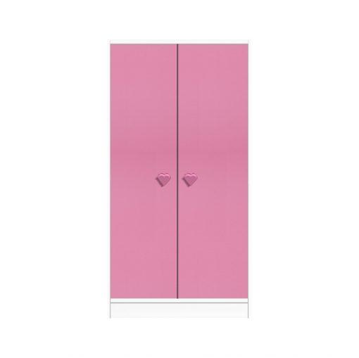Pink and white kids wardrobe