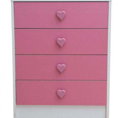 Chest of Drawers Pink Hearts - Kids Bedroom Set Nursery Furniture